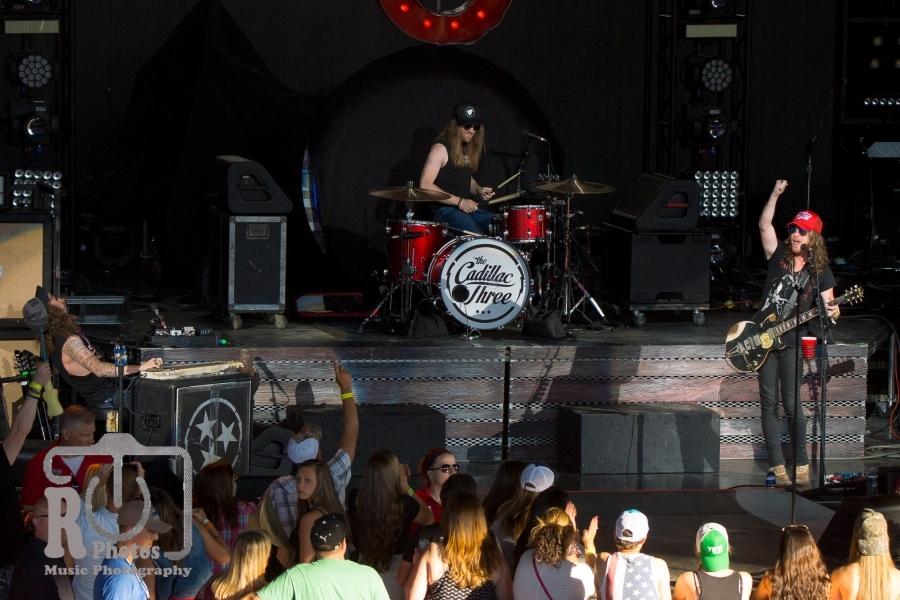 The Cadillac Three @ DTE Energy Music Theatre in Clarkston, MI | Photo by John Reasoner
